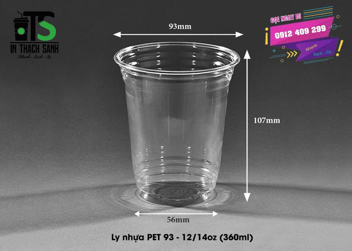 Ly nhựa PET 360ml phi 93