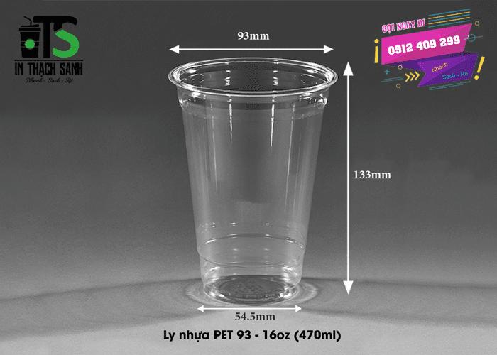 Ly nhựa PET 470ml