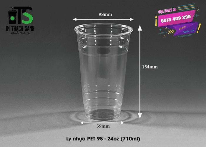 Ly nhựa PET 710ml